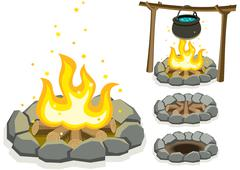 Campfire - stock illustration