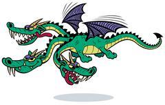 Cartoon Dragon - stock illustration