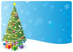 Stock Illustration of Christmas Tree Background 1