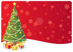 Christmas Tree Background 3 Stock Illustration