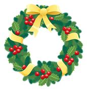 Christmas Wreath - stock illustration