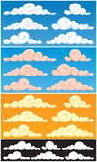 Clouds - stock illustration