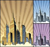 Cityscape Vertical - stock illustration