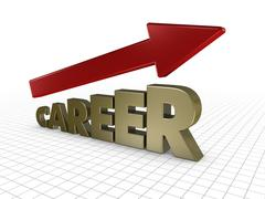 Growing career Stock Illustration