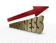 Stock Illustration of growing business