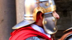 Roman army 32 (shouting orders) Stock Footage