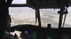Pilots fly  CH-47F Chinook helicopters Stock Footage