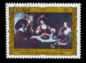 Stock Photo of CUBA - CIRCA 1986: A Stamp printed in CUBA, shows anonymous flam
