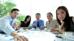 Video conference ambitious Multi Ethnic Advertising Executives Stock Footage