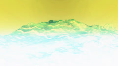 Stock Video Footage of Blue liquid ocean sea water lava magma,spray waves & volcanic activity.