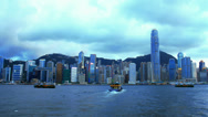 Stock Video Footage of Hong Kong Victoria Harbour