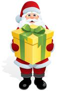 Santa Gift - stock illustration