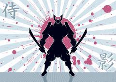Samurai Background - stock illustration