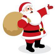 Santa Presents - stock illustration