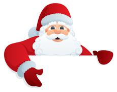 Santa Sign 2 Stock Illustration