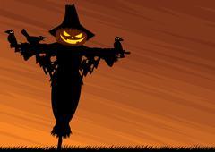 Scarecrow Background - stock illustration