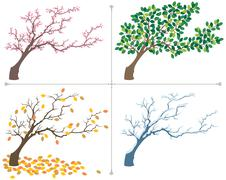 Seasons - stock illustration