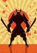Shadow Samurai Stock Illustration