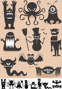 Silhouette Monsters Piirros