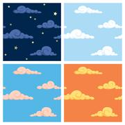 Sky Patterns - stock illustration