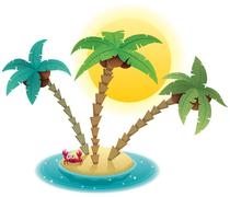 Small Island - stock illustration