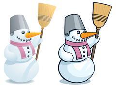 Snowman - stock illustration