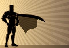 Superhero Background Stock Illustration