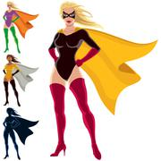 Superhero - Female - stock illustration