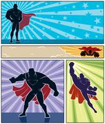 Superhero Banners Stock Illustration