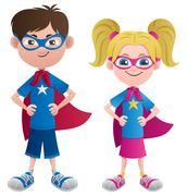 Super Kids Stock Illustration
