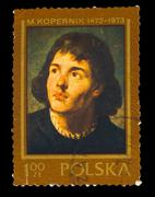 POLAND - CIRCA 1973 : Stamp printed in Poland, showing Nicolaus Stock Photos