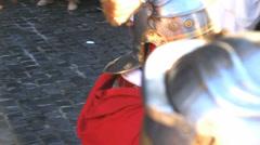 Roman army 42 (parade) Stock Footage