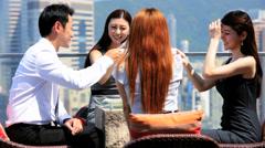 Ethnic Corporate Business Partners Toast Success Stock Footage