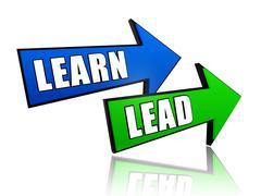 Learn lead in arrows Stock Illustration