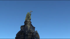 Vladimir the Great monument Stock Footage