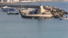 Gallipoli - Apulia - harbor - stock footage