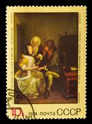 USSR - CIRCA 1974 : stamp printed in USSR, shows Gerard ter Bor - stock photo
