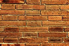 Red Brick Wall City Enhanced Stock Photos