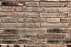 Faded Brick Wall Textured Background Stock Photos