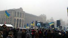 Euromaidan Kiev 11 Stock Footage