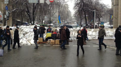 Euromaidan Kiev Stock Footage