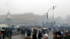 Euromaidan Kiev 12 Stock Footage