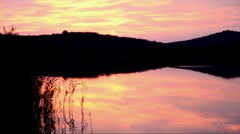 Sunset in Tihany at Inner Lake, Hungary Stock Footage