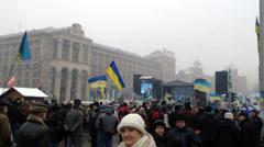 Euromaidan Kiev 10 Stock Footage