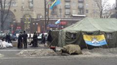 Euromaidan Kiev 2 Stock Footage