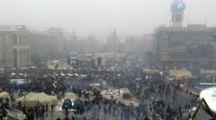 Euromaidan Kiev 15 Stock Footage
