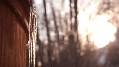 Icicles timelapse Stock Footage
