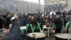 Euromaidan Kiev 18 Stock Footage