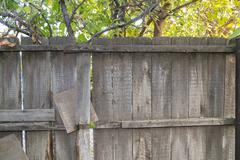 Wooden fence in nature as the background Stock Photos