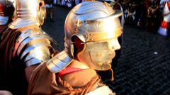 Roman army 43 (attention) Stock Footage